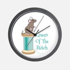 Queen of the Stitch Wall Clock