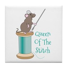 Queen of the Stitch Tile Coaster