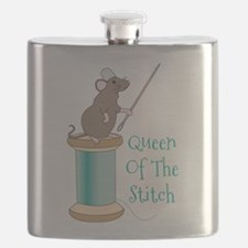 Queen of the Stitch Flask