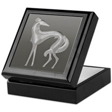 Art Deco Borzoi Silhouette Keepsake Box