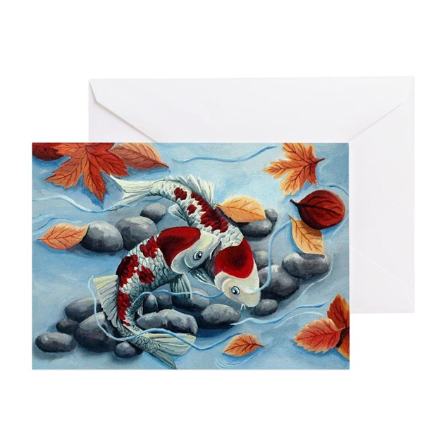 Koi fish greeting card by listing store 113875470 for Koi fish store