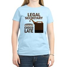 Legal Secretary Fueled By Chocolate T-Shirt