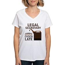 Legal Secretary Fueled By Chocolate Shirt