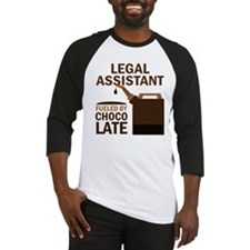 Legal Assistant Fueled By Chocolate Baseball Jerse
