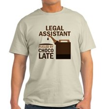 Legal Assistant Fueled By Chocolate T-Shirt