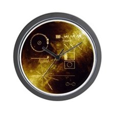 Voyager Golden Record Wall Clock