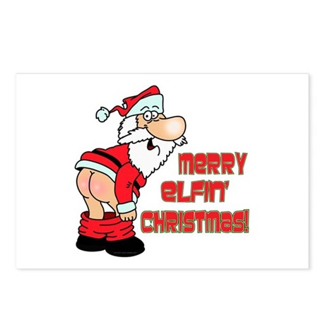 Merry Elfin' Christmas Postcards (Package of 8)