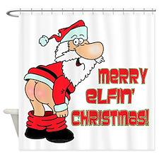Merry Elfin' Christmas Shower Curtain