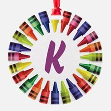 CRAYON ALPHABET Ornament