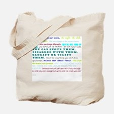 people who change things Tote Bag