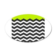Lime Green Black and white chevron Wall Sticker