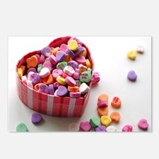 valentine candy Postcards (Package of 8)