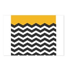 Yellow Black and White Chevron Postcards (Package