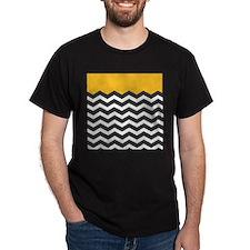 Yellow Black and White Chevron T-Shirt