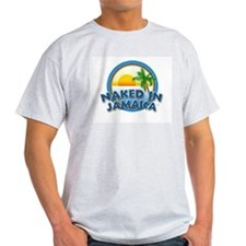 Naked In Jamaica Ash Grey T-Shirt