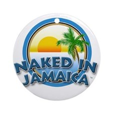 Naked In Jamaica Ornament (Round)