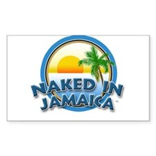 Naked In Jamaica Rectangle Decal