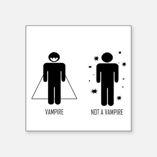 Vampire Vs. Not a Vampire Sticker