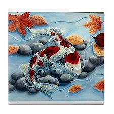 koi fish Tile Coaster