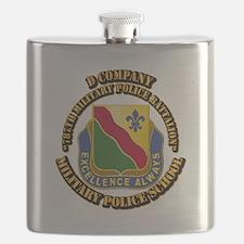DUI - D Company - 787th MPB w Text Flask