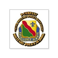DUI - D Company - 787th MPB w Text Square Sticker