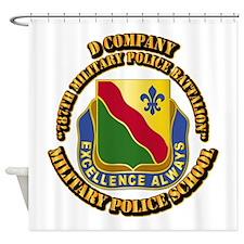 DUI - D Company - 787th MPB w Text Shower Curtain