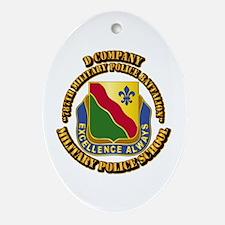 DUI - D Company - 787th MPB w Text Ornament (Oval)