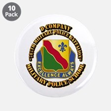 "DUI - D Company - 787th MPB w Text 3.5"" Button (10"