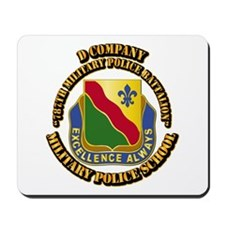 DUI - D Company - 787th MPB w Text Mousepad