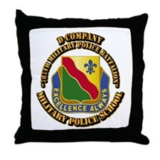 DUI - D Company - 787th MPB w Text Throw Pillow