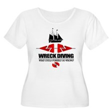 Wreck Diving (Line Markers) Plus Size T-Shirt