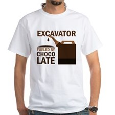 Excavator Fueled By Chocolate Shirt