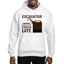 Excavator Fueled By Chocolate Hoodie