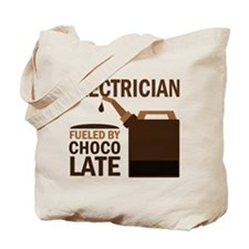 Electrician Fueled By Chocolate Tote Bag