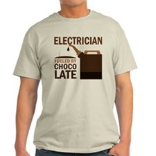 Electrician Fueled By Chocolate T-Shirt