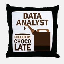 Data Analyst Fueled By Chocolate Throw Pillow