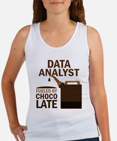 Data Analyst Fueled By Chocolate Women's Tank Top