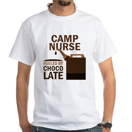 Camp Nurse Chocolate White T-Shirt
