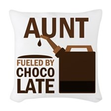 Aunt Fueled By Chocolate Woven Throw Pillow
