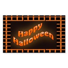 Happy Halloween squares patter Decal