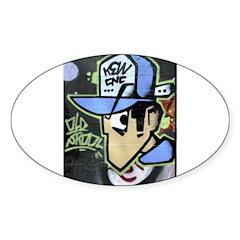 OLD SKOOL Oval Sticker