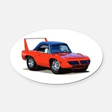 BabyAmericanMuscleCar_SuperBD_red Oval Car Magnet