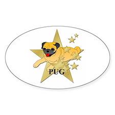 Pug Stars Decal