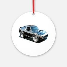 BabyAmericanMuscleCar_74Jav_Black Ornament (Round)