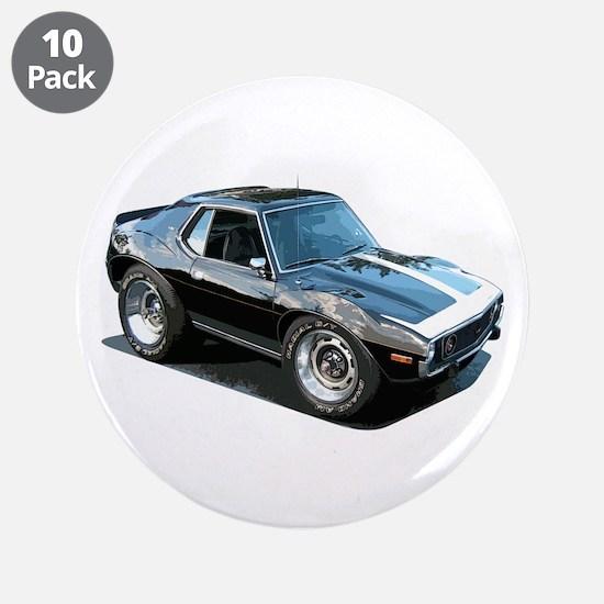 "BabyAmericanMuscleCar_74Jav_Black 3.5"" Button (10"