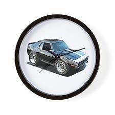 BabyAmericanMuscleCar_74Jav_Black Wall Clock