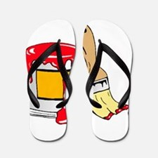 Paint Brush and Can Flip Flops