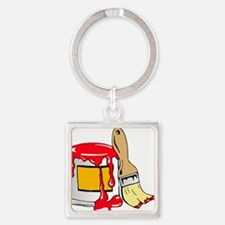 Paint Brush and Can Keychains