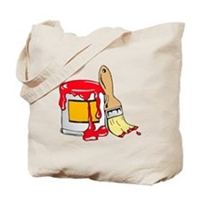 Paint Brush and Can Tote Bag