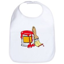 Paint Brush and Can Bib